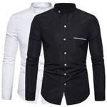 Collar Shirt Solid Long Sleeve Casual Shirts