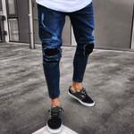 New Fashion Jeans Slim Biker Zipper Denim Skinny
