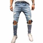 Fashion Streetwear Jeans Vintage Blue
