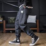 Streetwear Black Jeans Harem Pants