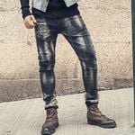 Gradual Black Gray Classic Jeans Pants Slim Fit