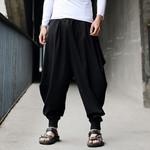 Harem Cotton Linen Casual Calf-Length Pants