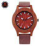 Style Wood Watch Minimalist Round