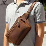 genuine crazy horse leather  messenger bag
