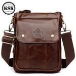 Genuine Leather Shoulder Messenger Bag