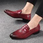 New Shoes Brand Braid Stripe Leather Casual
