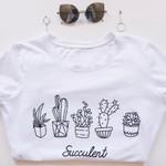 New Pot Flower Printed Printing T shirt