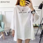 T-shirts Letter Printed Simple Leisure Tops