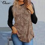 Vintage T-shirts Sexy Leopard Print Patchwork