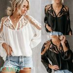 New Solid Sexy Lace Hollow PlainT-shirt