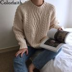 Sweaters Pullovers Warm Minimalist Korean Style