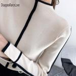 Turtleneck Pullover Sweater Soft Jumper Long Sleeve
