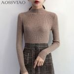 Pullovers Sweater Knitted Korean Elasticity Casual