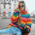 turtlenecks sweaters  rainbow stripes fashion