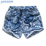 Fashion Print High Waist Sport boho shorts