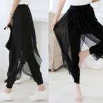 Fashion Chiffon Split Flared Boho Pants