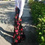Flare Vintage Casual Slim Floral Print Boho Pants