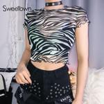Zebra Animal Striped Print T Shirt