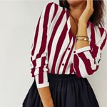 Casual Striped Loose Office Blouses