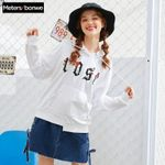 Floral Printed cotton o-neck Hoodies