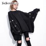 Hollow Pullovers Batwing Sleeve O Neck Sweatshirts