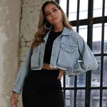 Hip-pop Single Breast Long Sleeve Denim Jackets