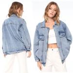 Turn Down Collar Basic Denim Jackets