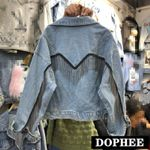 Heavy Industry Tassel Chain Denim Jacket