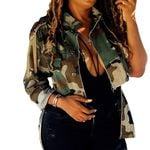 Multi-Bags Camouflage Cotton Casual Jacket