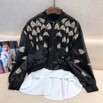 Patchwork Elegant Long Sleeve Jacket