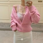 Jacquard Hollow Out Design Knitting Sweater