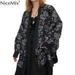 dragon print long sleeve sunscreen Kimono