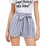 High Waist Bandage Stripe Print Shorts