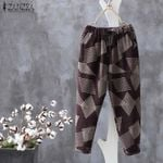 Vintage Harem Elastic Waist Long Turnip Pants
