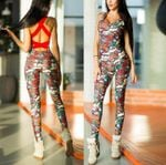 print fitness yoga running tights Jumpsuits