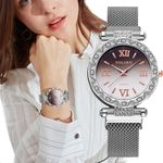 Stainless Steel Band Magnet Buckle Watch