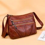 Fashion Soft PU Washed Leather High Quality Handbags