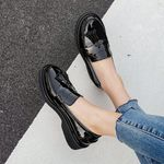 Fashion Patent Leather Casual slip-on Flat shoes