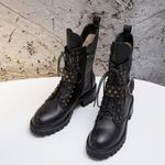 Rivets Ankle Med Fashion Boots