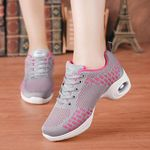 Flats Vulcanize Lace-Up Mesh Sneakers