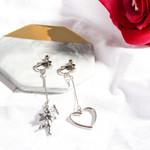 Cupid Dangle Angel Heart Asymmetric Earring