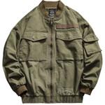 Army Vintage Military Green Pocket Tactical Loose Jacket