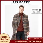 Mid-length Checked Woolen Coat