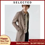 Houndstooth Woolen Windbreaker Coat