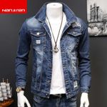 Casual Slim washing 3D embroidered Denim Jackets