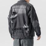 Hole Fashion Embroidery Casual Retro Denim Jackets