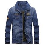 Casual Vintage Cotton Denim Jackets