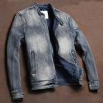 Vintage Stretch Motorcycle Denim Jackets