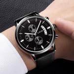 Sports Quartz Date Leather WristWatch
