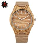 Creative Casual Genuine Leather Wood Watches
